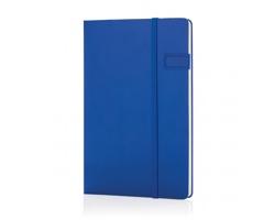 Linkovaný zápisník BIGHT se 4GB USB, formát A5 - modrá