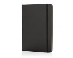 Poznámkový blok v tvrdých deskách HIME, formát A5 - černá