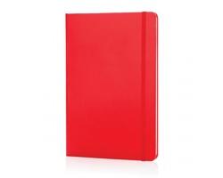 Poznámkový blok v tvrdých deskách HIME, formát A5 - červená