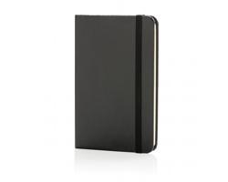 Poznámkový blok v tvrdých deskách MALLEI, formát A6 - černá