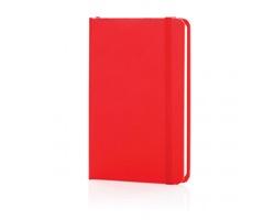 Poznámkový blok v tvrdých deskách MALLEI, formát A6 - červená