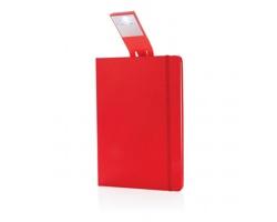 Poznámkový blok CORPORIS s LED lampičkou, formát A5 - červená