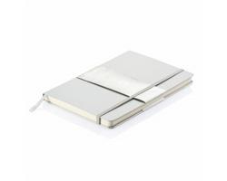 Vázaný poznámkový blok KAREEM, formát A5 - stříbrná