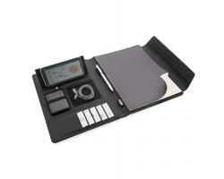 Konferenční desky BOLIGEE s bezdrátovým nabíjením a powerbankou, formát A4 - černá