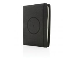 Konferenční desky STOAT s bezdrátovu nabíječkou, formát A5 - černá
