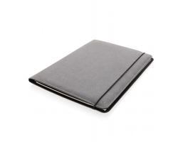 Konferenční desky z recyklované kůže JOWL, formát A4 - šedá