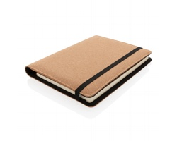 Korkové konferenční desky HOOFS se zápisníkem a perem, formát A5 - hnědá