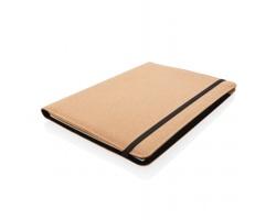 Korkové konferenční desky SACATON se zápisníkem a perem, formát A4 - černá