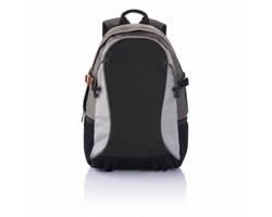 Polyesterový outdoorový batoh LUCIEN s reflexními detaily - černá