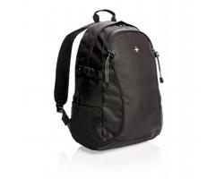 Značkový polyesterový batoh Swiss Peak GRANITEVILLE - černá