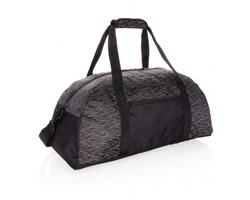 Reflexní víkendová taška KIERS z RPET AWARE™ - černá