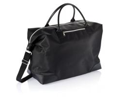 Polyesterová víkendová taška ORIS s mini boční kapsou na zip - černá