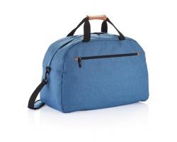 Polyesterová víkendová taška DELHI s ramenním popruhem - modrá