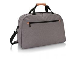 Polyesterová víkendová taška DELHI s ramenním popruhem - šedá
