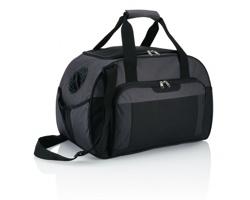 Polyesterová víkendová taška HILLISBURG - antracitová / černá
