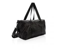 Sportovní taška na jógu a fitness CANDRASANA s popruhem na jogamatku - černá