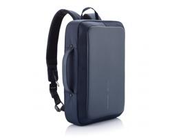 """Městský batoh na 15.6"""" notebook BOBBYS odolný proti proříznutí - modrá / černá"""