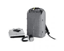 Nedobytný batoh URBAN BOBBY s kapsou s RFID ochranou - šedá