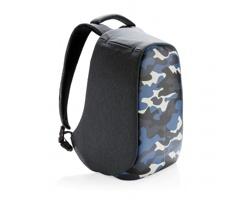 Nedobytný značkový batoh Bobby COMPACT PRINT - modrá / světle modrá