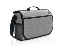 Polyesterová taška přes rameno BAIZE se zavíráním klopou na suchý zip - šedá