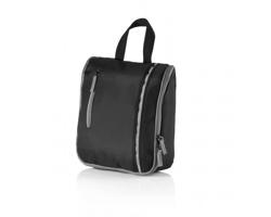 Toaletní taška VELLA s háčkem - černá