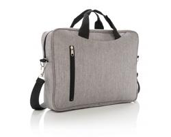 """Polyesterová taška na 15.6"""" notebook BRAT s nastavitelným ramenním popruhem - šedá"""