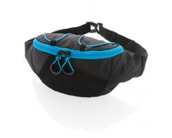 Sportovní ledvinka SAFFELL s kapsou na lahev - černá / modrá