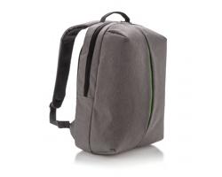 """Polyestrový městský batoh GROVE s přihrádkou pro 15"""" notebook - šedá / zelená"""