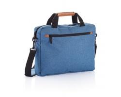 Polyesterová městská taška MILDRED s nastavitelným ramenním popruhem - modrá
