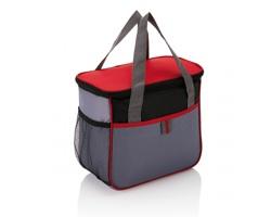 Polyesterová chladicí taška LAFITTE - červená / šedá
