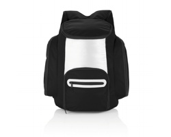 Polyesterový chladicí batoh SLAG - černá / stříbrná
