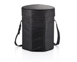 Polyesterová chladící taška INTL s funkcí podsedáku - černá