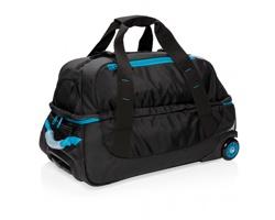 Středně velká cestovní taška na kolečkách CODES s teleskopickým madlem - modrá