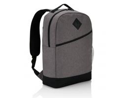 Polyesterový batoh ROAN s přední kapsou na suchý zip - šedá