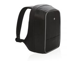 """Značkový batoh na 15.6"""" notebook Swiss Peak NEWARK s odolností proti průřezu - černá"""