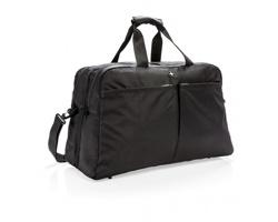 Značková cestovní taška Swiss Peak SEBUM s otevíráním ve stylu kufru - černá