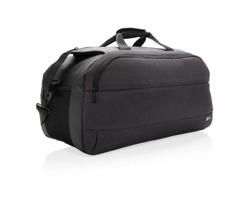 Značková sportovní víkendová taška Swiss Peak MEWS s integrovaným USB portem - černá