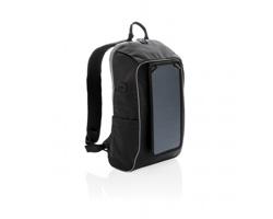 Outdoorový solární batoh ASTE se 2 USB porty - černá / šedá
