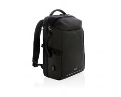 Značkový víkendový batoh Swiss Peak REVEL s RFID ochranou a USB konektorem - černá