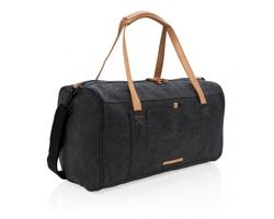 Textilní víkendová taška KOAN s ramenními popruhy - černá