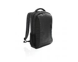 Polyesterový batoh na notebook ANSONIA s nastavitelnými popruhy - černá