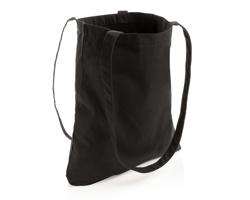 Nákupní taška CORINTH z recyklované bavlny AWARE™, kolekce Impact - černá