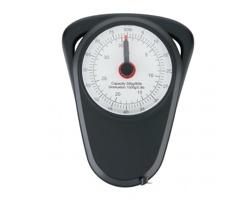 Plastová manuální zavazadlová váha RIDGE, nosnost 35 kg - černá