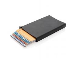 Hliníkové RFID pouzdro na karty SAMATHA - černá