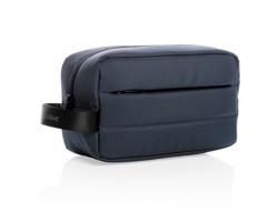 Toaletní taška QIANA z RPET materiálu AWARE™, kolekce Impact - tmavě modrá