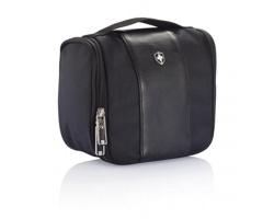 Značková polyesterová toaletní taška Swiss Peak SEALY - černá