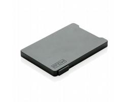 Plastové pouzdro na karty BRASH s posuvníkem, kapacita 4 karty - černá