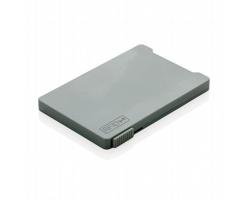 Plastové pouzdro na karty BRASH s posuvníkem, kapacita 4 karty - šedá