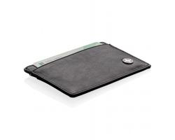 Značkové kožené pouzdro Swiss Peak AGENCY s RFID/NFC ochranou, až pro 8 karet - černá