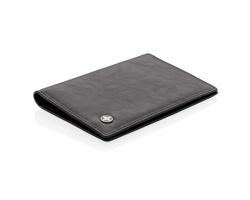 Značkové kožené pouzdro Swiss Peak BOW na doklady a 8 karet s RFID/NFC ochranou - černá